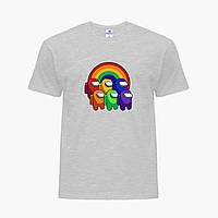 Детская футболка для девочек Амонг Ас (Among Us) (25186-2595) Светло-серый