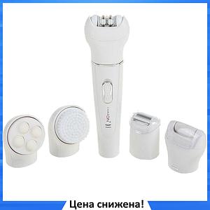 Эпилятор массажер 5в1 Gemei GM-3072 с насадками - Женский эпилятор 5в1 + уход за кожей лица