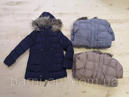 Зимова куртка-пальто на дівчинку оптом, Glo-story, 134/140-170 рр, фото 2