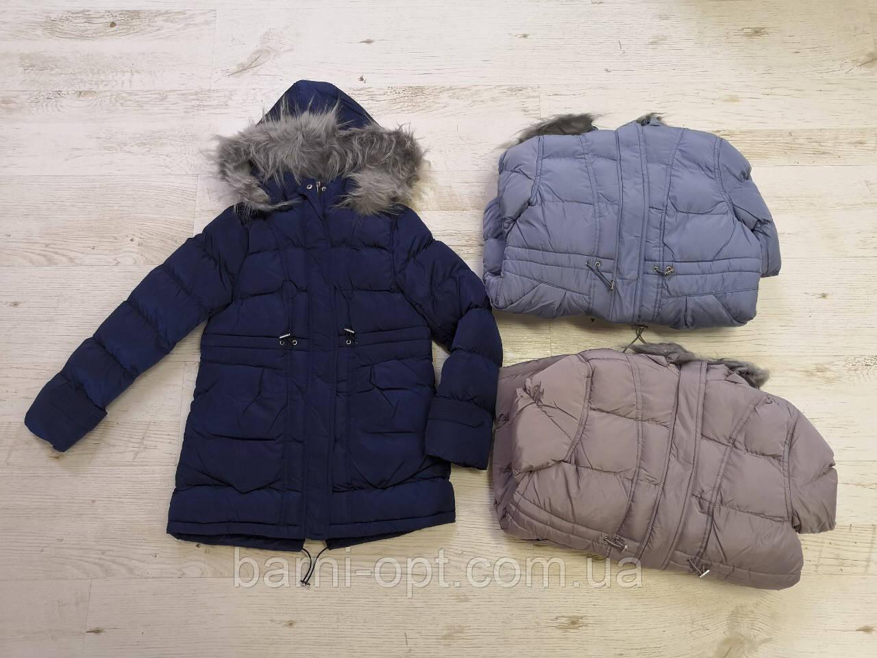 Зимова куртка-пальто на дівчинку оптом, Glo-story, 134/140-170 рр