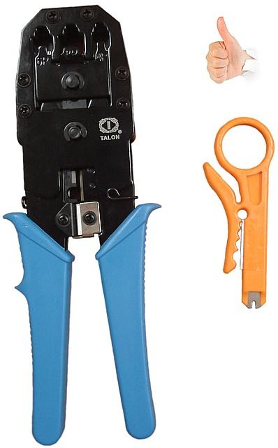 Обжмка для сетевого компьютерного кабеля. Качественные! (Клещи для обжима TL-315 8P6P4P (crimping tool))