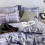 Постельное белья Двуспальное с простыню на резинке 160х200+20см | Комплект постельного белья Фланель на резине, фото 3