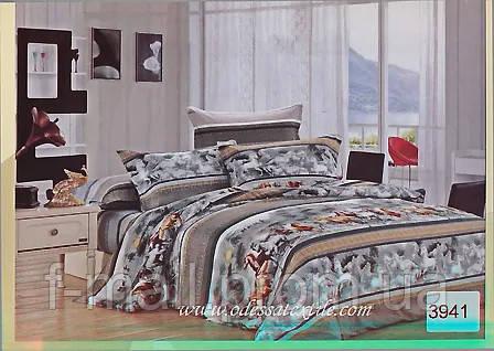 Комплект постельного белья ELWAY (Польша) Сатин семейный (3941)