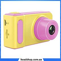 Детский цифровой фотоаппарат Smart Kids Camera V7 Розовый | Детская цифровая камера, фото 2