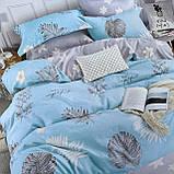 Постельное белья Двуспальное с простыню на резинке 160х200+20см   Комплект постельного белья Фланель на резине, фото 3