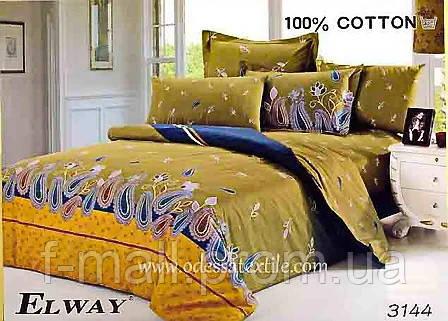 Комплект постельного белья ELWAY (Польша) Сатин семейный (3144)