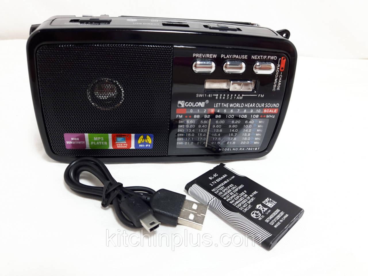 Радіоприймач Golon RX-7601 BT