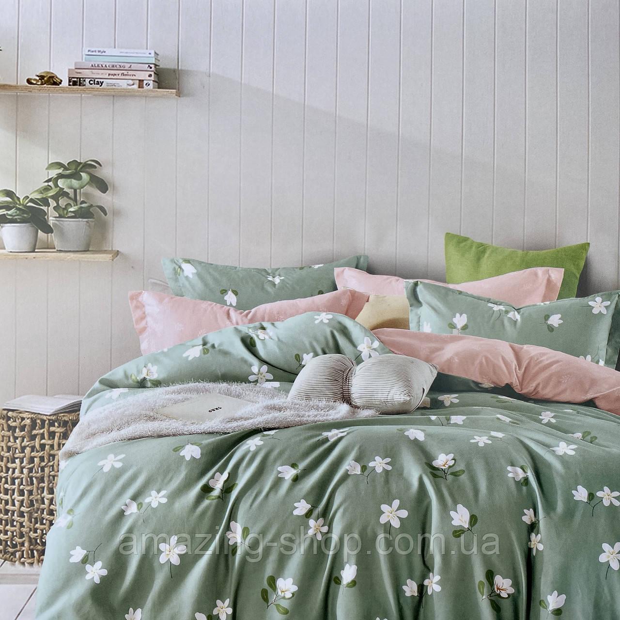 Постільну білизни Двоспальне з простирадло на гумці 160х200+20см | Комплект постільної білизни Фланель на гумі