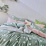 Постільну білизни Двоспальне з простирадло на гумці 160х200+20см | Комплект постільної білизни Фланель на гумі, фото 4