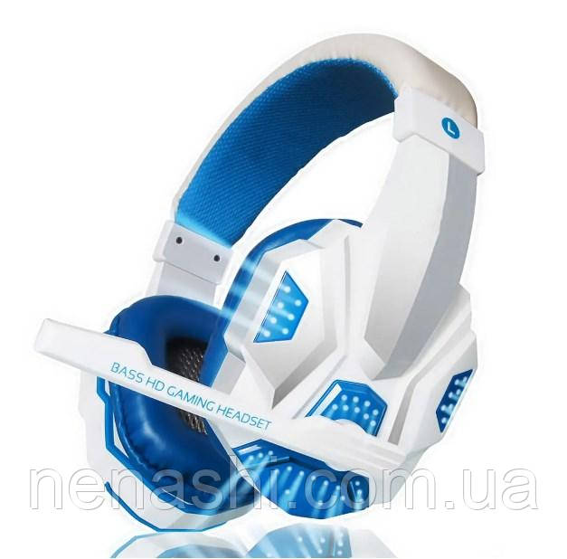 PLEXTONE PC780 Wired Gaming Headphone Stereo Sound Headset With Microphone LED Audio Cable - Lightning Blue+Wh