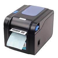 Термопринтер этикеток, наклеек, чеков, с отделителем XP-370B 80мм черный | Термопринтер для етикеток, наліпок