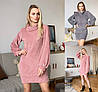 Р 42-48 Вязанное платье-свитер 23108