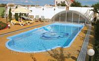 Стекловолоконный бассейн Марсель 10,40х4,05м глубиной 1,00-1,65м, фото 1