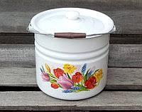 Ведро эмалированное Idilia Весняний букет 12 литров 1224/2