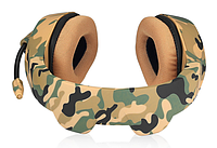 Игровые проводные наушники ONIKUMA K1-B с микрофоном, желтый камуфляж 20 - 20000 Гц | Навушники камуфляж