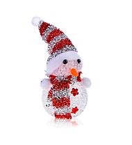 Светильник Снеговик светящийся светодиодный 13см, фото 3