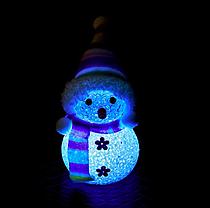 Светильник Снеговик светящийся светодиодный 13см, фото 2