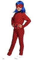 Детский карнавальный костюм ЛЕДИ БАГ с ПАРИКОМ на 4,5,6,7,8 лет для девочки, костюм ледибаг герои в масках