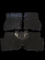 Коврики в салон Nissan Leaf с 2012 г.в. 4 шт + перемычка (Avto-Gumm) Автогум для автомобиля