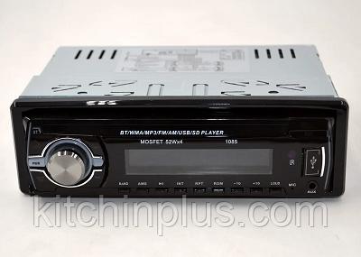 Автомагнитола 1085 Bluetooth Пульт ДУ мощность 52x4 Вт съёмной панель в машину