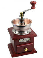 Кофемолка ручная с деревянным ящиком Empire EM-2360, жерновая | Кавомолка ручна з дерев'яним ящиком