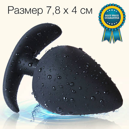 Анальная пробка силиконовая Plump Plug by Tmishion большая L, фото 2