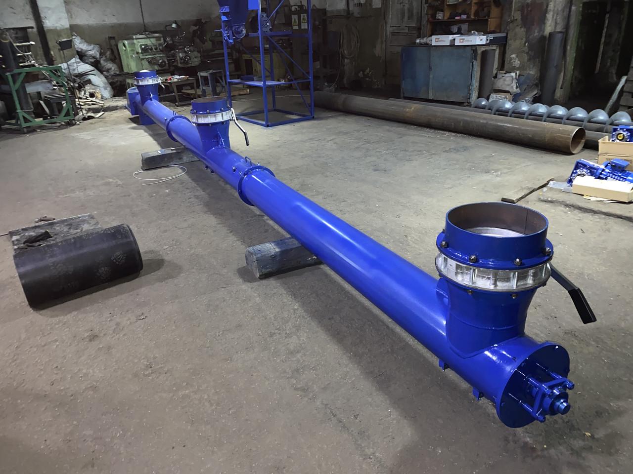 Шнековый винтовой конвейер (транспортёр) стационарный для транспортировки цемента