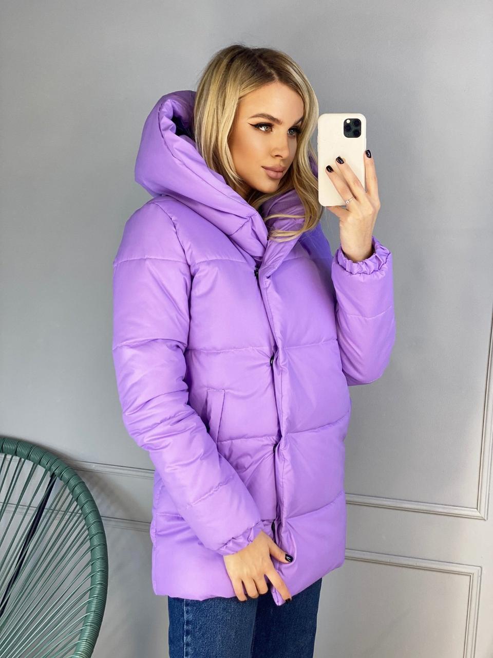 Куртка теплая плащевая женская  на синтепоне 250, четыре цвета