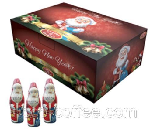 Шоколадная фигурка Дед Мороз с сюрпризом 60 гр. 12 шт Saadet Ukraine