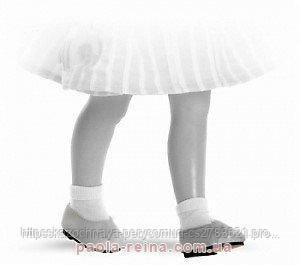 Туфлі білі для ляльок 32 см