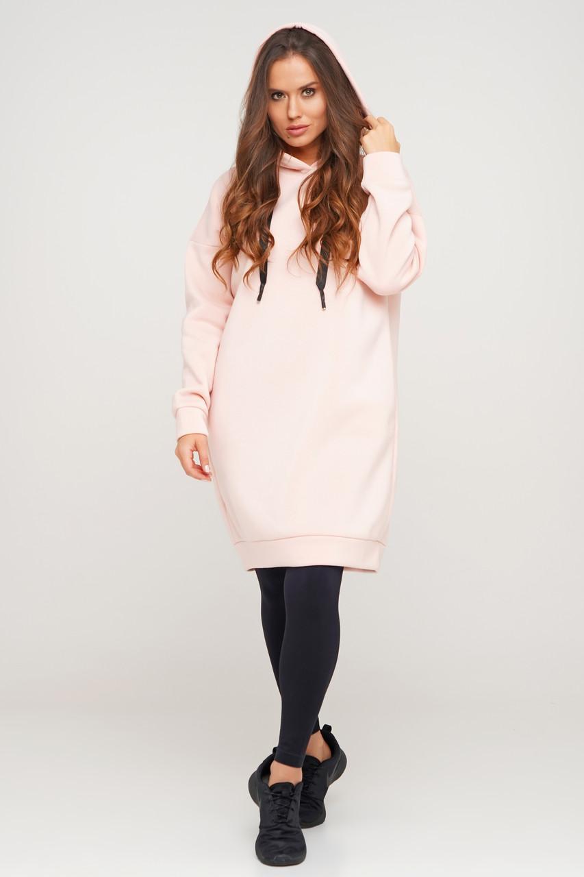 Тепле видовжене плаття-худі Orli