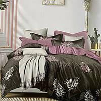 Постельное белья Двуспальное с простыню на резинке 160х200+20см | Комплект постельного белья Фланель на резине