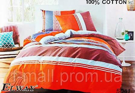 Комплект постельного белья ELWAY (Польша) Сатин евро (5041)