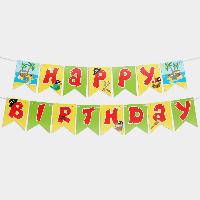 Гирлянда бумажная Happy birthday Пираты