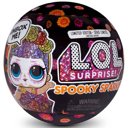 Кукла ЛОЛ Сюрприз Бебе Бонита Шарик Хэллоуин L.O.L. Surprise! Spooky Sparkle Bebé Bonita 572459, фото 2