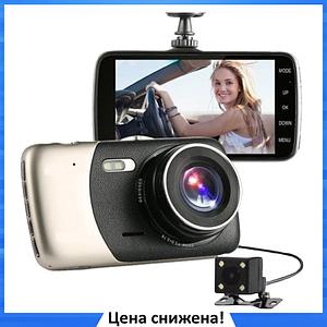 """Автомобильный Видеорегистратор DVR T652 4"""" Full HD 1080p с камерой заднего вида"""