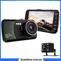 """Автомобильный Видеорегистратор DVR T652 4"""" Full HD 1080p с камерой заднего вида, фото 3"""