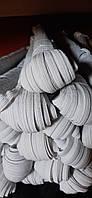 Резинка плетеная для белья (бельевая) белая 8мм 100 метров