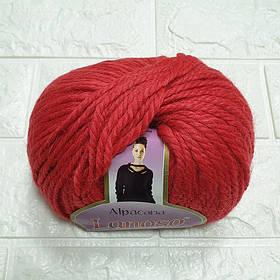 Пряжа для вязания Альпакана алая