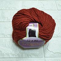 Пряжа для вязания Альпакана терракотовая
