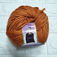 Пряжа для вязания Альпакана оранжевая