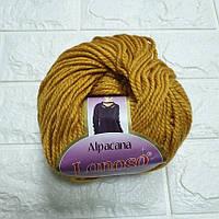Пряжа для вязания Альпакана желтая