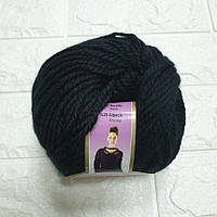 Пряжа для вязания Альпакана черная