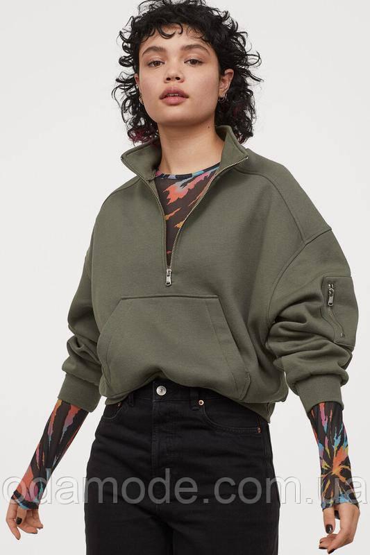 Женский свитшот на молнии H&M