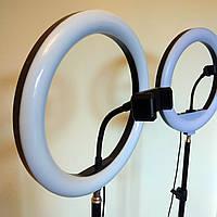 Кольцевая лампа 30 см, с держателем для телефона, кольцевая led лампа, селфи кольцо для блогеров