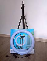 Кольцевая лампа 30 см со штативом, с держателем для телефона, кольцевая led лампа, селфи Ring fill light