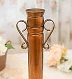 Оригінальна мідна ваза з ручками, мідний посуд, мідь Німеччина, 27 см, фото 5