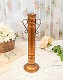 Оригинальная медная ваза с ручками, медная посуда, медь Германия, 27 см, фото 3
