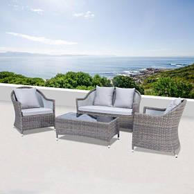 Комплект плетеной мебели GLORIA  из дивана, кофейного столика и двух кресел