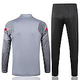 Тренировочный костюм FC Ливерпуль Nike 2020/21 light grey, фото 2